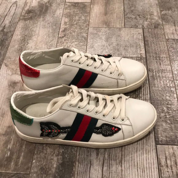 8722c551c Gucci Shoes   White Bleeding Arrow Ace Sneakers 37   Poshmark